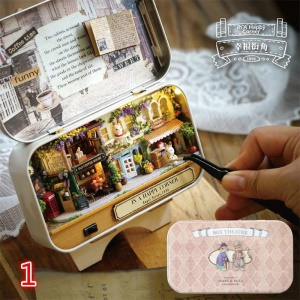 Mini 3D DIY Handmade Box Theatre Dollhouse Miniature Box Gift Toys - In A Happy Corner