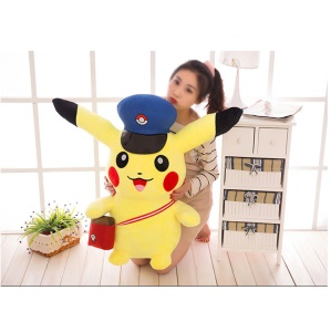 Pokemon Go Pikachu Carrying Bag Large Plush Toy Doll, Size: 80cm