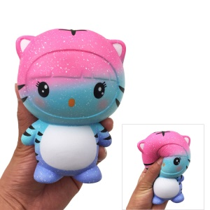 Tiger Pattern Squishy Toy Hand Toy Squeeze Toy for Stress Relief - Blue