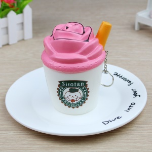 Ice Cream Pattern Squishy Toy Hand Toy Squeeze Toy for Stress Relief - Pink