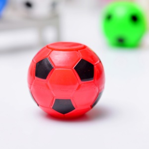 Mini Fidget Rotation Football Soccer Spinner Soccer Fidget Spinner Plastic Ball Anti Stress Relax Gyro Toy - Red