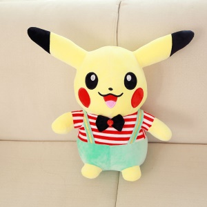 Cute Pokemon Go Pikachu Creative Rompers Style Plush Toy, Size: 30cm - Green