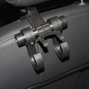 3 IN 1 Car Seat Back Drink Storage Rack Bag Hook Hanger Holder