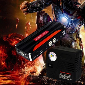 CY-16 7800mAh Emergency Car Jump Starter 4-USB Power Bank Charger with Flashlight Survival Hammer - EU Plug
