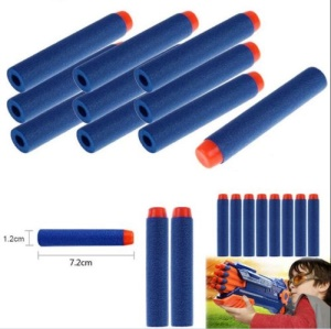 100PCS/Set Blue Refill Bullet Darts for Nerf N-strike Elite Series Blasters Toy Gun