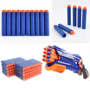 400 PCS / Set Blue Round Head Bullet Darts pour NERF Kids Toy Gun N-froudroyer blasters