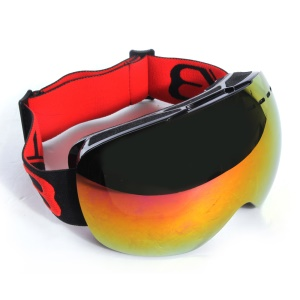 Snowmobile Snowboard Skate Ski Goggles for a Sunny Day - Red
