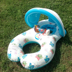 Multi-Functional 3-in-1 Parent and Child PVC Inflatable Swim Ring for Baby and Parent with Sunshade