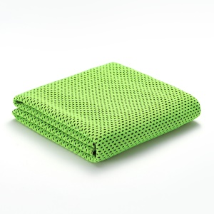Cooling Towel Chilly Pad Ice Scarf for Yoga Golf Gym Running Climbing, Size: 30 x 100cm (with OPP Package) - Green