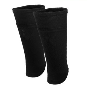 1 Pair Football Soccer Double-layer Sweat-absorbent Shin Guard Socks Sleeves - Black