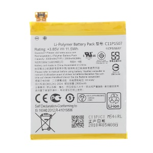 3000mAh OEM Li-Polymer Battery Replacement for Asus Zenfone Zoom ZX550 ZX551ML (C11P1507)