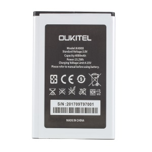 4000mAh Removable Li-polymer Battery Replacement for Oukitel K4000
