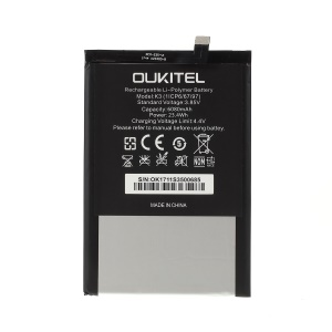 Removable Li-ion Battery for Oukitel K3 6080mAh