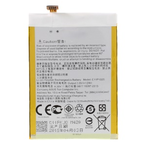 3230mAh OEM Li-polymer Battery Replacement for Asus Zenfone 6