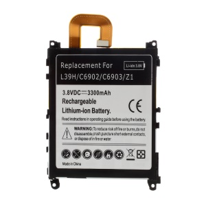 3300mAh Li-ion Battery Replacement for Sony Xperia Z1 Honami C6903 C6902 L39h