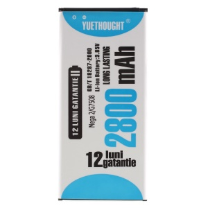 YUETHOUGHT 2800mAh Li-ion Battery Replacement for Samsung Galaxy Mega 2 G7508