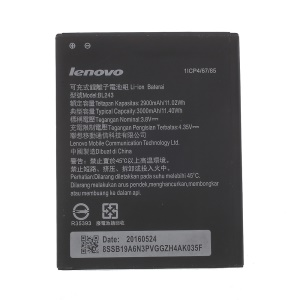 OEM BL243 3000mAh Li-ion Battery Replacement for Lenovo K3 Note K50-t5 / Lenovo Golden Warrior S8 A7600-m