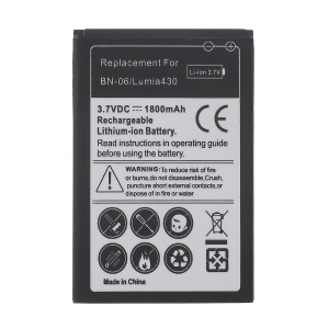BN-06 1800mAh Rechargeable Lithium-ion Battery for Microsoft Lumia 430 Dual SIM