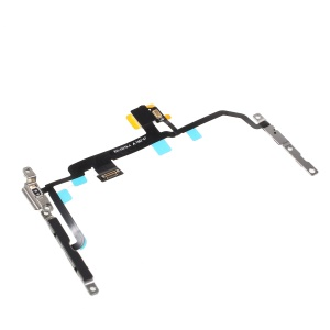 OEM for iPhone 8 Plus 5.5 inch Power ON/OFF and Volume Button Flex Cable with Metal Plate