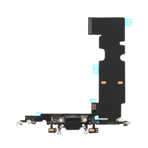 Charging Port Flex Cable Replacement for iPhone 8 Plus - Black