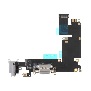 Charging Port Flex Cable Replace Part for iPhone 6 Plus 5.5 inch - Dark Grey