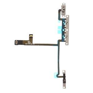 Volume Button Flex Cable Spare Part with Metal Plate for iPhone X