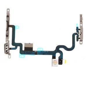 For iPhone 7 4.7 inch OEM Power ON/OFF and Volume Button Flex Cable Part with Metal Plate