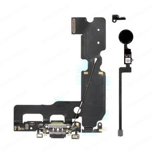 "Ladeanschluss Flexkabel + Home Return Button Flexkabelsatz Für IPhone 7 Plus 5,5 "" - Schwarz"