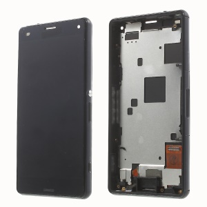 For Sony Xperia Z3 Compact LCD Screen and Digitizer Assembly with Front Housing OEM - Black