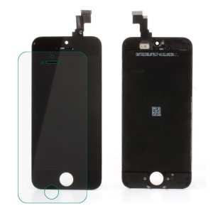 For iPhone 5c LCD Screen Assembly with Camera Holder, Earpiece Mesh, Sensor IC Holder Etc (Made by Chinese Tianma)
