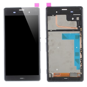For Sony Xperia Z3 D6603 LCD Screen and Digitizer Assembly with Front Housing - Black