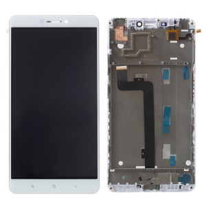 LCD Screen and Digitizer (OEM) with Assembly Frame (Non-OEM) for Xiaomi Mi Max - White