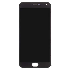 OEM LCD Screen and Digitizer Assembly + Frame Part Replacement for Meizu M2 Note - Black