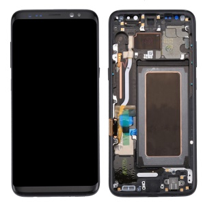 OEM Part Screen and Digitizer Assembly + Frame + Small Parts for Samsung Galaxy S8 G950 - Black