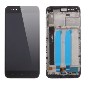 OEM LCD Screen and Digitizer Assembly + Frame Replacement for Xiaomi Mi A1 / 5X - Black
