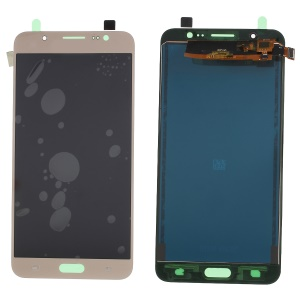 LCD Screen and Digitizer Assembly Part with Screen Brightness IC for Samsung Galaxy J7 (2016) SM-J710 - Gold