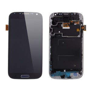 LCD Screen and Digitizer Assembly Part + Frame with Screen Brightness IC for Samsung Galaxy S4 I9505 - Dark Blue