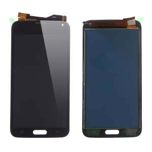 LCD Screen and Digitizer Assembly Part with Screen Brightness IC for Samsung Galaxy S5 G900 - Black