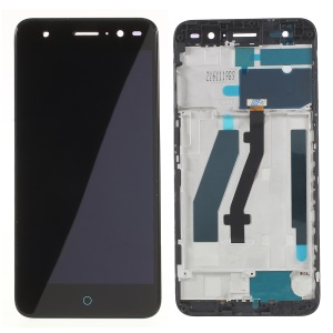 OEM LCD Screen and Digitizer Assembly + Frame Replacement for ZTE  V7 lite - Black