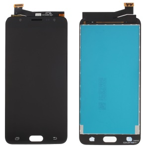 Double Holes LCD Screen and Digitizer Assembly Part for Samsung Galaxy J7 Prime G610 - Black