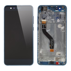 LCD Screen and Digitizer Assembly Replacement Part with Front Housing for Huawei P10 Lite - Blue