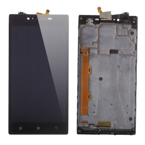 LCD Screen and Digitizer Assembly + Frame Replace Part for Lenovo P70 - Black
