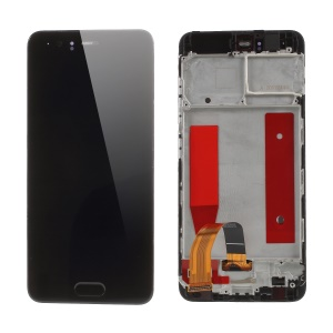 OEM LCD Screen and Digitizer + Assembly Frame Part for Huawei P10 - Black