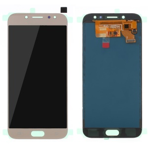 LCD Screen and Digitizer Assembly Repair Part for Samsung Galaxy J7 2017 J730 with Screen Brightness IC and Adhesive Sticker - Gold