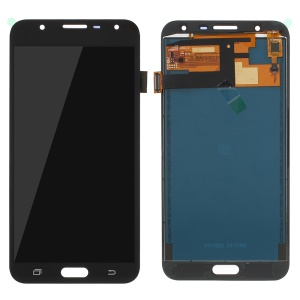 LCD Screen and Digitizer Assembly Part for Samsung Galaxy J7 Nxt J701 with Screen Brightness IC and Adhesive Sticker - Black