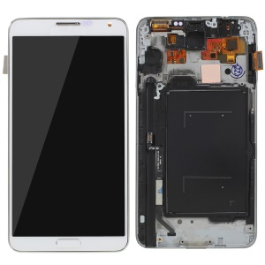 LCD Screen and Digitizer Assembly + Frame Replacement for Samsung Galaxy note 3 N9005 with Screen Brightness IC - White