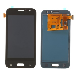 LCD Screen and Digitizer Assembly Part with Screen Brightness IC for Samsung Galaxy J1 (2016) J120 (with Adhesive Sticker) - Black