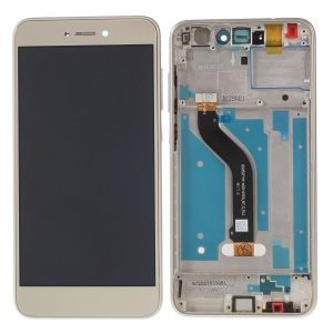 LCD Screen and Digitizer Assembly + Frame Part Replacement for Huawei Honor 8 Lite (2017) - Gold