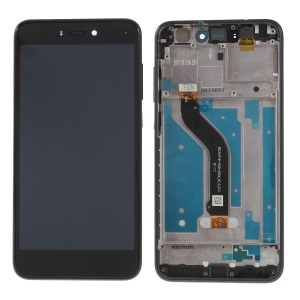 LCD Screen and Digitizer Assembly + Frame Replace Part for Huawei P8 Lite (2017) - Black