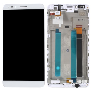 "OEM LCD Screen and Digitizer Assembly Part with Frame for Alcatel OneTouch Pop 4 6.0"" 7070 - White"